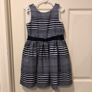 Gymboree Blue & White Striped Formal Dress Size 5